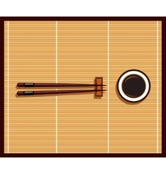 Japanese Food Design Flat Banner vector image