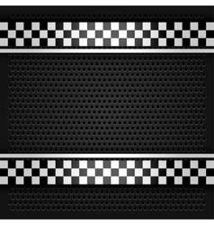 Metallic perforated sheet gray vector image vector image