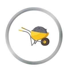 Wheelbarrow icon in cartoon style isolated on vector image vector image