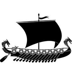 drakkar viking vector image