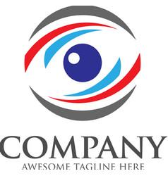 eyes logo template vector image