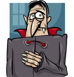 halloween vampire cartoon vector image vector image
