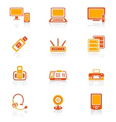 office electronics | juicy vector image vector image