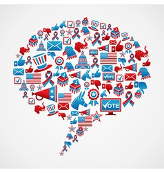 Social media US election icons concept vector image