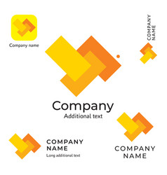 abstract rectangles logo design modern clean vector image