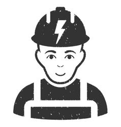 Electrician Grainy Texture Icon vector image