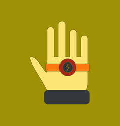 Flat icon on background kids toy bracelet hand vector