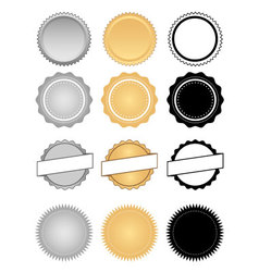 Labels Seals Badges and Wax Emblem Set vector image