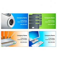 computer business cards vector image