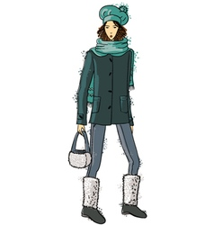 fashion trendy girl vector image vector image