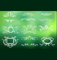 frame set of vintage elements decoration vector image