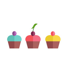 pretty cakes vector image