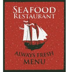 seafood ship vector image vector image