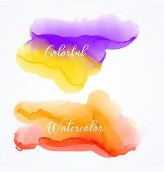 set of bright watercolor stain background vector image vector image