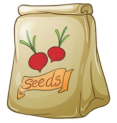 A pack of onion seeds vector