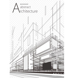 Abstract architecture plan vector