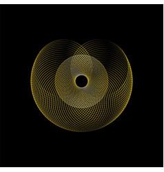 abstract spiral circles vector image