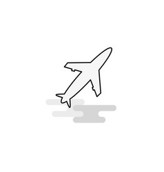 aeroplane web icon flat line filled gray icon vector image