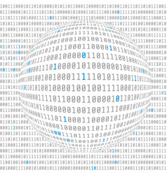 Binary data view cybersecurity binary code vector