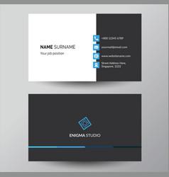 Blue elegant corporate business card design vector