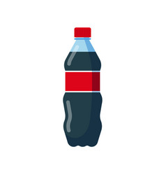 bottle soda drink icon vector image