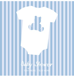 Boy shower card vector