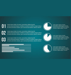 business infographic with graph and diagram vector image