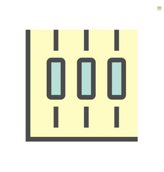 candlestick chart for statistics display icon vector image