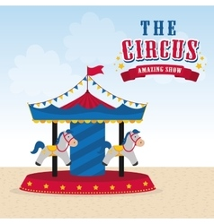 Carousel icon Circus and Carnival design vector