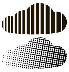 Cloud half tone stripes concept digital vector