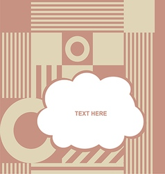 cloud with various item on color background vector image