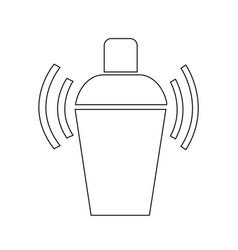 Cocktail shaker icon design vector