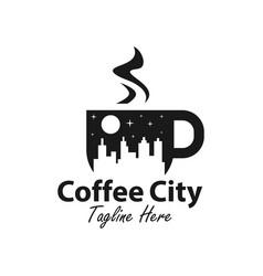 coffee city logo design vector image