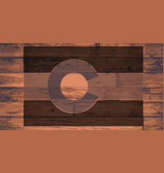 Colorado state flag brand vector