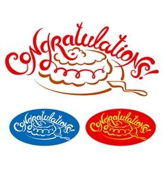 congratulations vector image