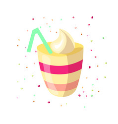 cute cartoon of sweet creamy vector image