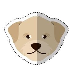 cute dog mascot head isolated icon vector image