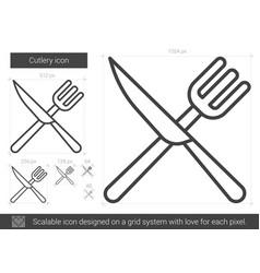 cutlery line icon vector image