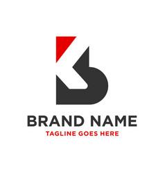 design a business logo with letter kb vector image