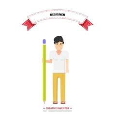 Designer Person Man Creative Inventor vector