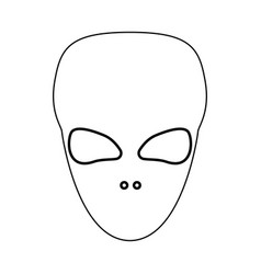 extraterrestrial alien face or head black color vector image
