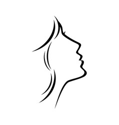 female beauty and care line logo template vector image