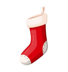 gift christmas red sock traditional decor symbol vector image