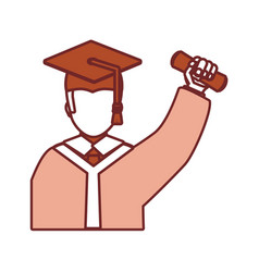 graduated man icon vector image