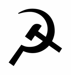 Hammer and sickle icon vector