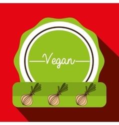 hand food vegan vegetables vector image
