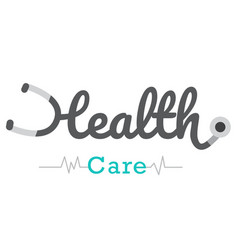 health care text logo with white background vector image