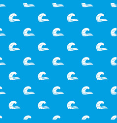 High wave pattern seamless blue vector