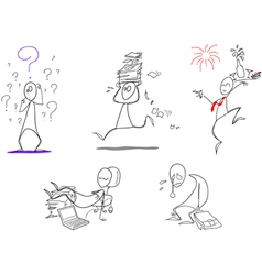 Humorous clip arts vector