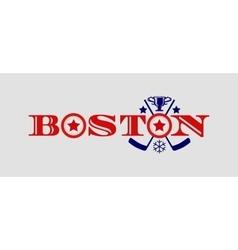 ice hockey relative background vector image